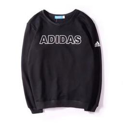 Adidas 愛迪達  衛衣 純棉 長袖 運動休閒T恤 經典 黑 情侶衛衣 長T 字母LOGO D