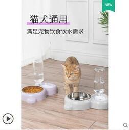 貓碗雙碗貓盆食盆狗盆狗狗碗貓咪狗保護頸椎糧貓寵物飯水防打翻盆