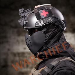 裝備  酋長悍將半臉面罩可掛FAST頭盔戶外cs真人野戰特種兵戰術防護面具【優佳百貨】