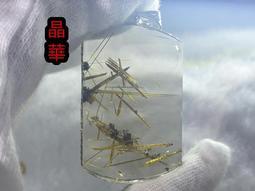 《晶華》天然  茶體 鈦金 無事牌 清透料 吊墜 P02