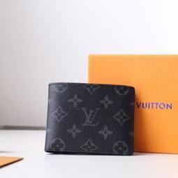 頂級Louis Vuitton 路易威登男士 LV 短款錢包 M60895 零錢包 LV 短夾 錢夾 西裝夾 LV 皮夾