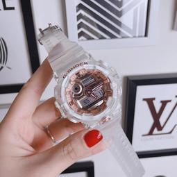 新款限定 CASIO 卡西歐 G-SHOCK GA-700 透明 玫瑰金 數字雙顯錶款 運動手錶 情侶手錶 潛水錶