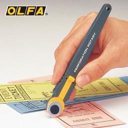 日本OLFA虛線切割刀滾刀虛線刀PRC制作彩券優惠券易撕線 DF