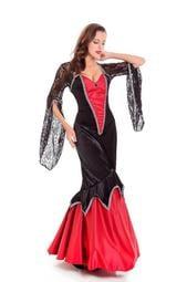 現貨尾牙服裝成人女cosplay女巫服裝公主裙吸血鬼化裝舞會演出服裝