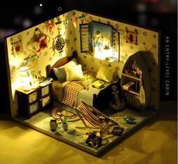 diy小屋夏之海手工制作拼裝小房子模型拼裝玩具創意生日禮物女生