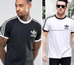 【千品】爱迪達 Adidas 三葉草 Adidas T恤 短袖衣服 寬鬆短袖 透氣舒適短袖T恤 經典三條槓 拼色T恤
